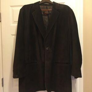 Jackets & Blazers - Men's Danier Brown Suede Blazer